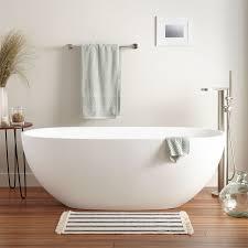 oval freestanding bathtub signature hardware