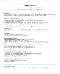 Best Resume Objective Statement by Job Objective Examples For Medical Assistant Medical Receptionist