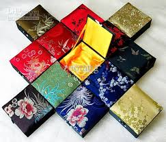 china custom silk printed gift boxes wholesale cotton filled