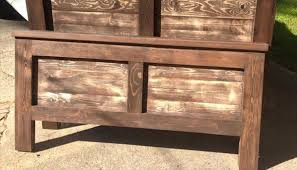 diy stained pallet rustic headboards pallet furniture plans