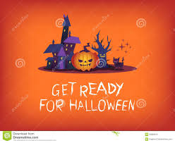 halloween house clipart get ready for halloween text with scary pumpkin haunted house