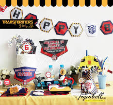 transformer birthday transformers party kit complete set transformer party