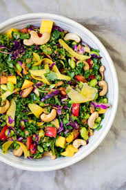 chopped thai kale salad with peanut ginger dressing ambitious