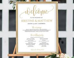 wedding program board wedding program sign etsy