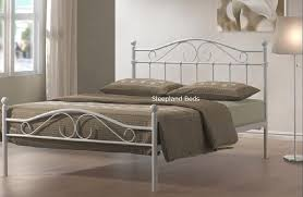 White Metal Bed Frame Single Metal Beds Sussex White Bed Frame 3ft Single Pertaining To