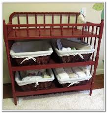 Changing Table Organizer Ideas Table Storage Ideas Home Design Ideas