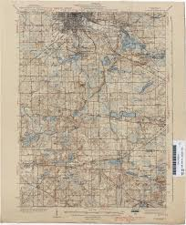 Elevation Map Of Michigan by