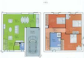 plan maison en u ouvert plan de maison en l avec etage plan rez de chausse plan tage plan
