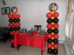 mickey mouse party decorations mickey mouse columns party decorations by teresa