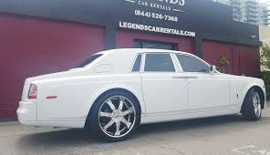 customized rolls royce rolls royce phantom white legends car rentals classic car