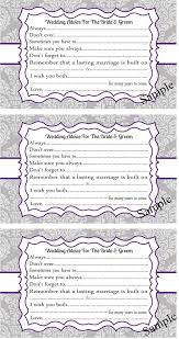 advice to and groom cards and groom advice cards gallery totally awesome wedding ideas