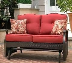 Patio Furniture Glider by Loveseat Retro Metal Outdoor Glider Loveseat Outdoor Glider