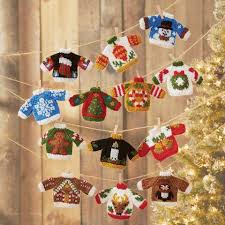 herrschners sweater ornaments knit yarn
