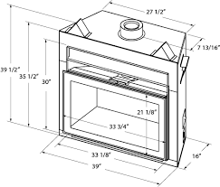 Standard Fireplace Dimensions by Pacific Energy Estate