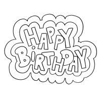 happy birthday printable coloring pages index images