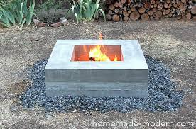 concrete fire pit homemade modern concrete fire pit options