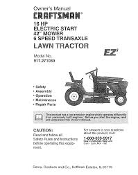 craftsman lawn mower 917 27103 user guide manualsonline com