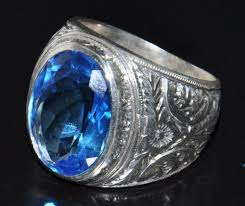 men rings stone images Sterling silver 925 men ring aquamarine stone silverformen on jpg