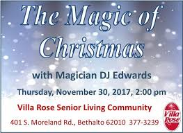 the magic of christmas show with magician dj edwards villa rose