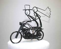 motorcycle wedding cake toppers motorcycle cake topper custom sculptures