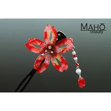 japanese hair pin hair accessory modern kanzashi hairpin with bouncy petals