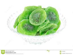 Decorative Fruit Bowl by Dried Kiwi Fruit In Bowl Side View Stock Photo Image 34749060