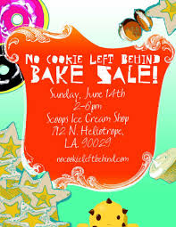 the deets no cookie left behind bake sale