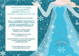 elsa frozen birthday party invitation original poem