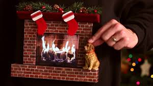 burning fireplace ugly christmas sweater w an ipad youtube