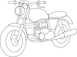 motorcycle coloring page free clip art