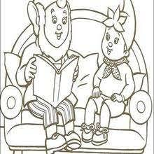 big ears and noddy coloring pages hellokids com