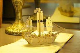 newest 3d pop up greeting card ship birthday good luck father u0027s