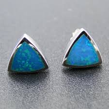 blue opal earrings blue opal stud earrings choice image jewelry design examples