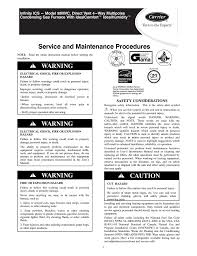 carrier infinity ics 58mvc instruction manual