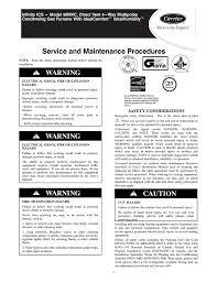 carrier infinity ics 58mvc instruction manual