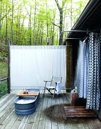 Outdoor Shower Curtains Outdoor Shower Curtain Home And Curtains
