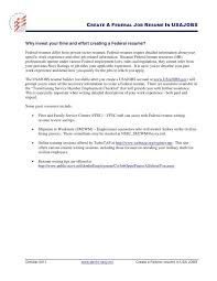 Federal Resume Builder Usajobs How To Write Federal Resume Federal Resume Sample And Format The