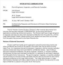 interoffice memorandum template interoffice memo template 7 free