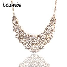 crystal collar statement necklace images Ltumbe vintage bohemian turkish jewelry hollow alloy paper cutting jpg