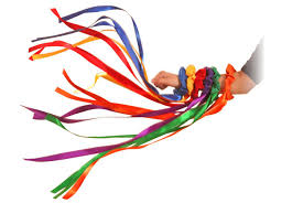 ribbon streamers in motion wrist ribbon streamers