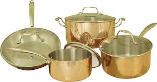 Copper Kitchen Canisters Cook Pro Professional Quality Copper Tri Ply 8 Piece Cookware Set