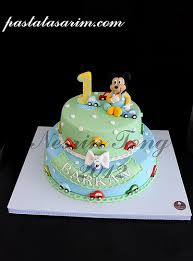 baby mickey mouse cake barkan 1st birthday medium a photo on