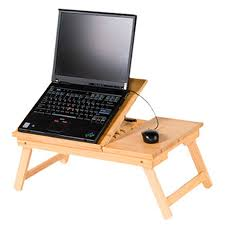 Computer Desk Wooden Adjustable Computer Desk Portable Wooden Laptop Folding Table