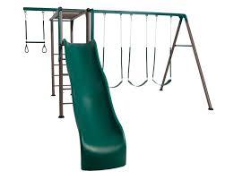 Metal Backyard Playsets by Lifetime Swing Set With Monkey Bars Lifetime 90143 Monkey Bar