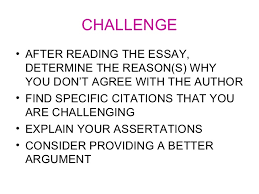 Challenge Reason Slides On Defend Challenge And Qualify Argument Essay