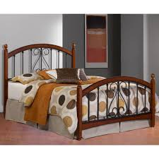 Wood And Iron Bed Frames Burton Way Bed In Cherry Humble Abode
