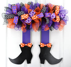 witch legs and shoes witch door hanger witch wreath