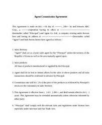 sample agreement on commission job application letter for