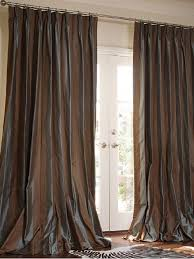 French Pleated Drapes Dupioni Silk Drapes Striped