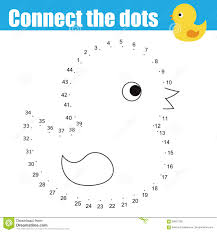 connect the dots by numbers educational children game stock vector